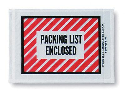 4 1 2 X 6 Back Loading Printed Ng List Envelope