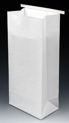 "40 White Kraft Paper Bags 4.25/"" x 2.75/"" x 8.5/"" Gusseted Bags That Stand Up"